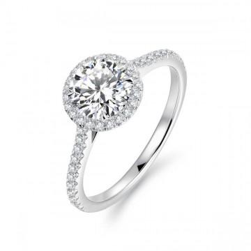 Rivis Diamond Engagement Ring Casing 18K White Gold